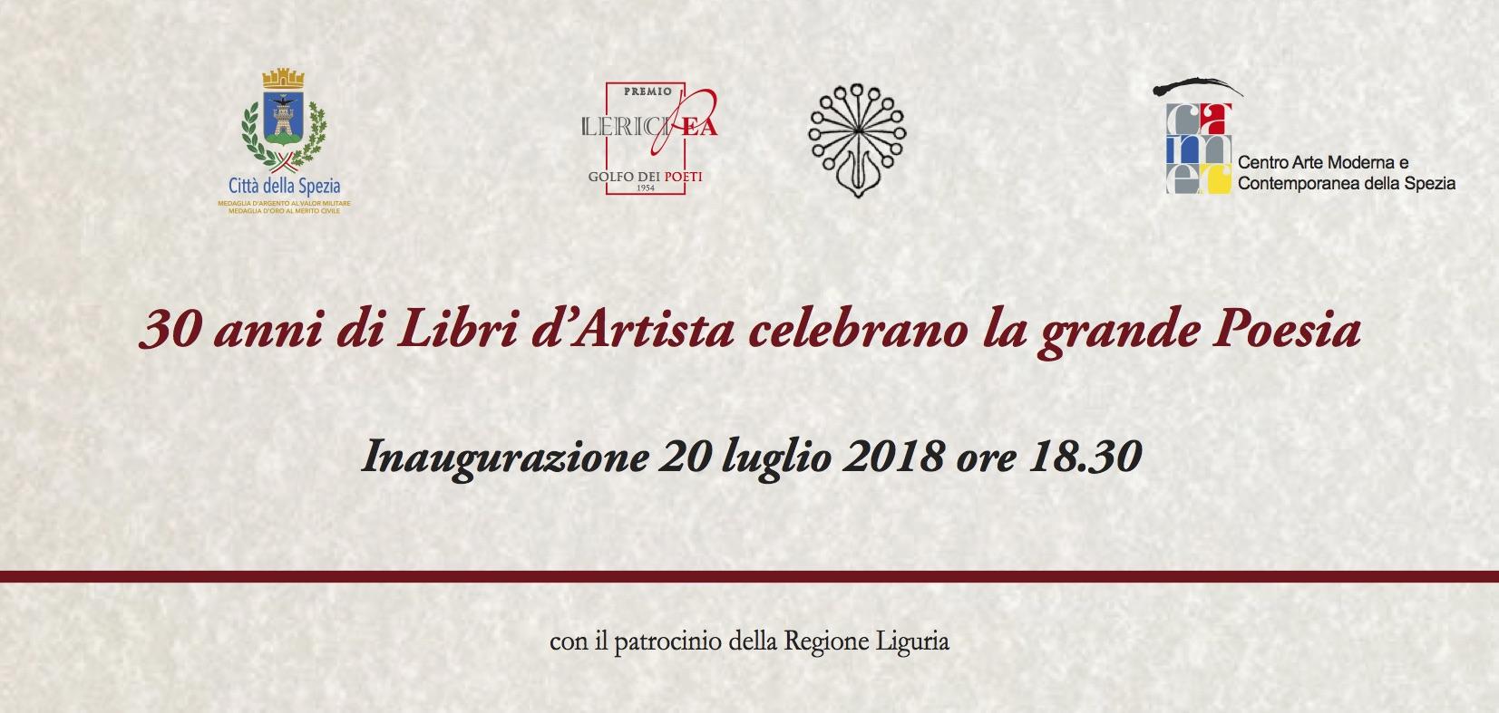 """20 luglio Inaugurazione Mostra al CAMeC   """"30 anni di Libri d'Artista celebrano la grande Poesia"""""""